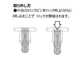 キタコ(KITACO) プッシュリベット スズキA 8/3PC KCON 0900-005-00020