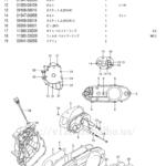FIG.6(1-B-7)クランクケースカバー(TYPE K5/K6/K7)