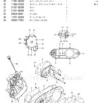 FIG.6(1-B-8)クランクケースカバー(TYPE K5/K6/K7)