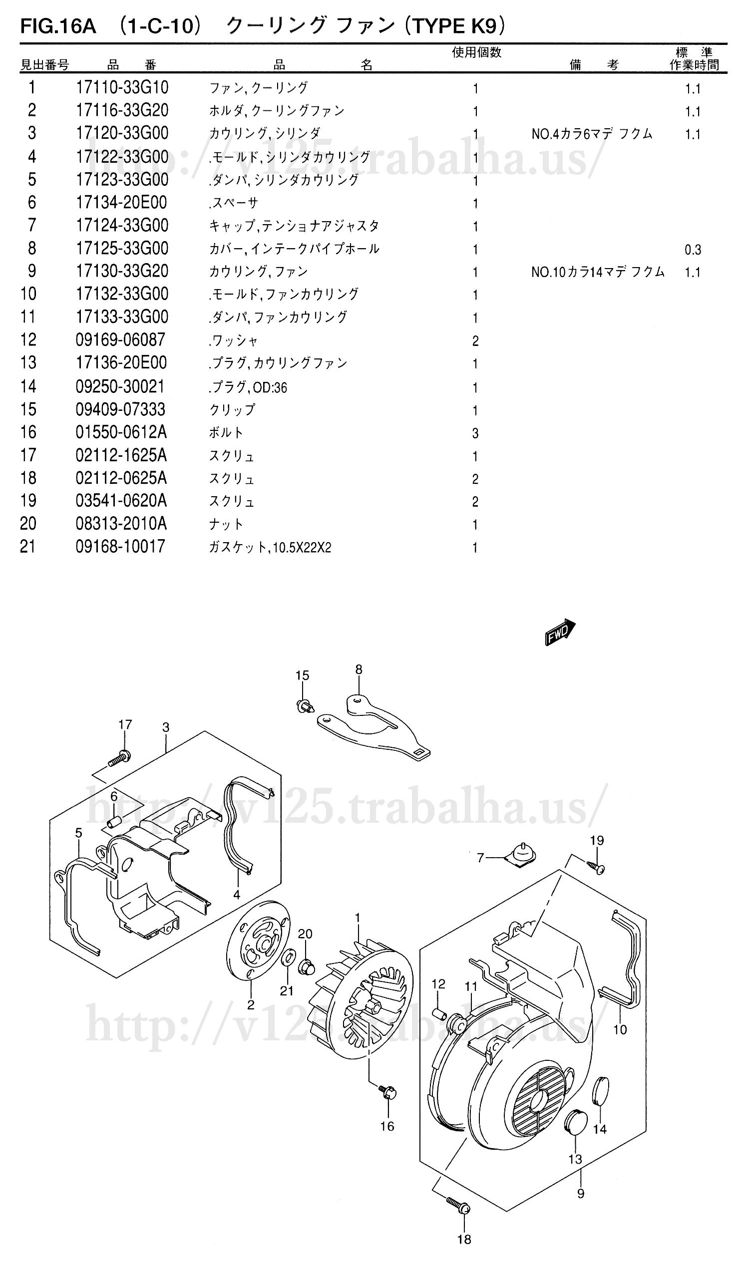 FIG.16A(1-C-10)クーリングファン(TYPE K9)
