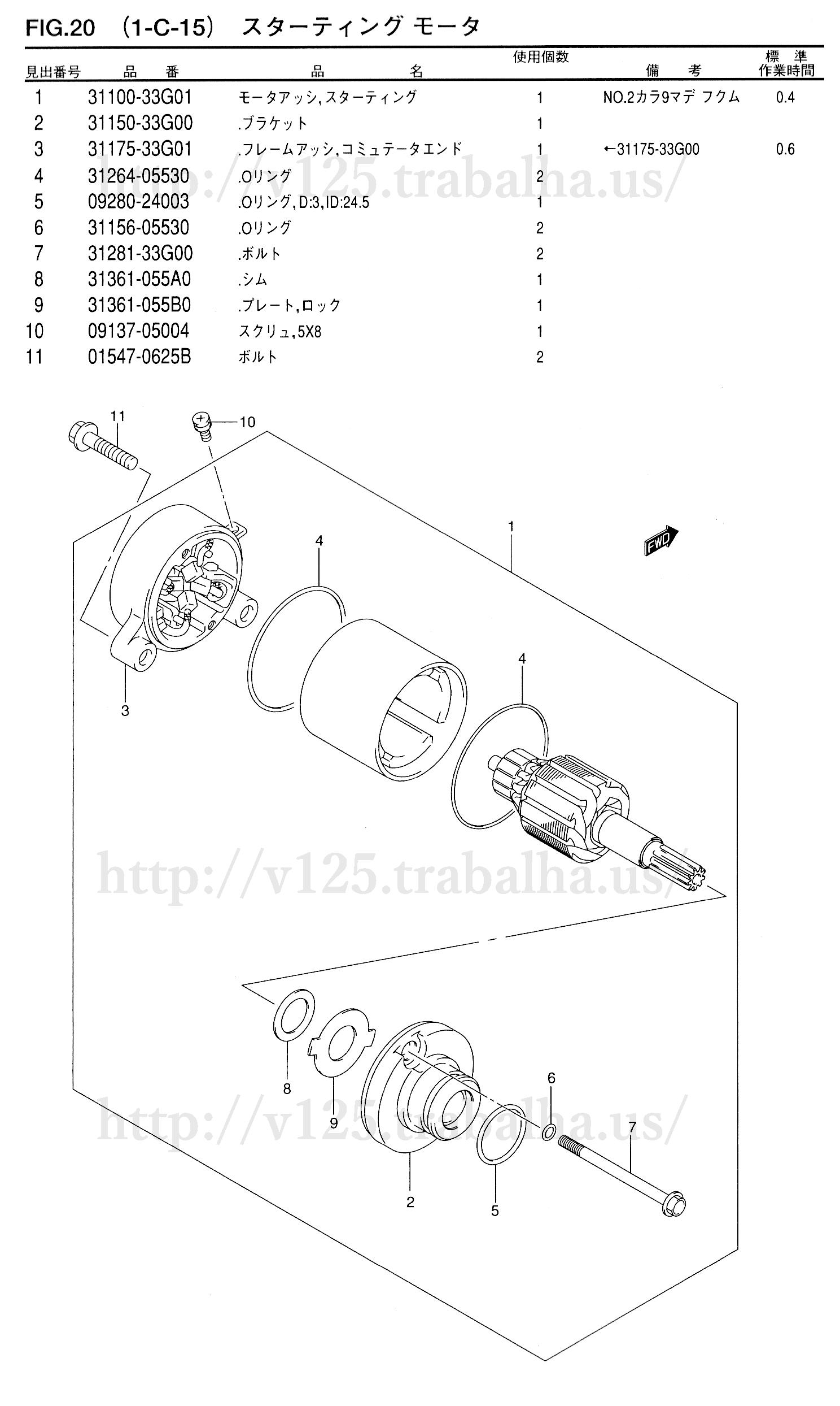 FIG.20(1-C-15)スターティングモータ