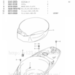 FIG.40(1-G-2)ヘルメットボックス(UZ125K5/UZ125K6/UZ125K7/UZ125K9)