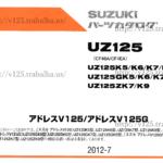 アドレスV125 パーツリスト(カタログ)