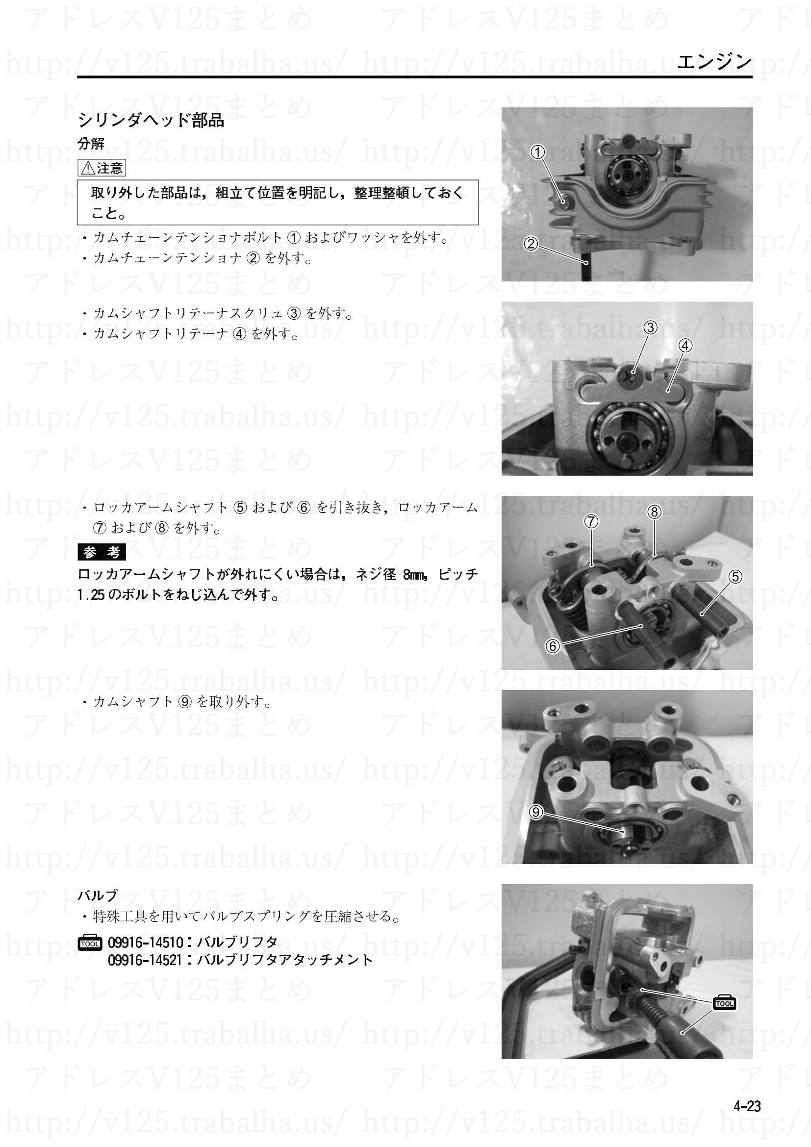 4-23【エンジン】エンジン部組部品の点検1