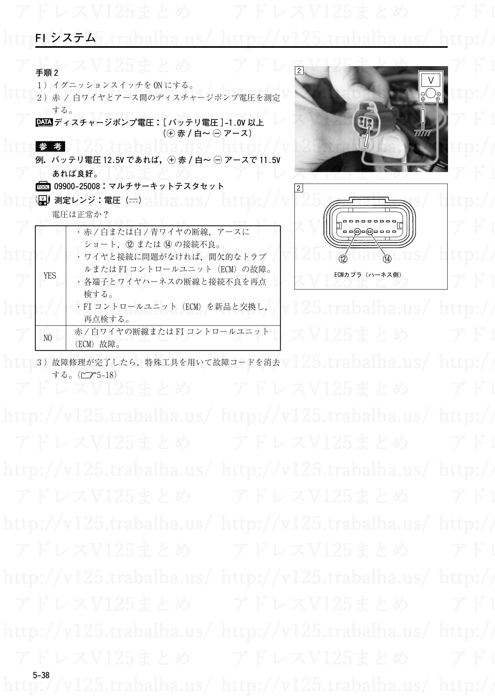"""5-38【FIシステム】""""C32""""ディスチャージポンプ(DCP)回路の故障2"""