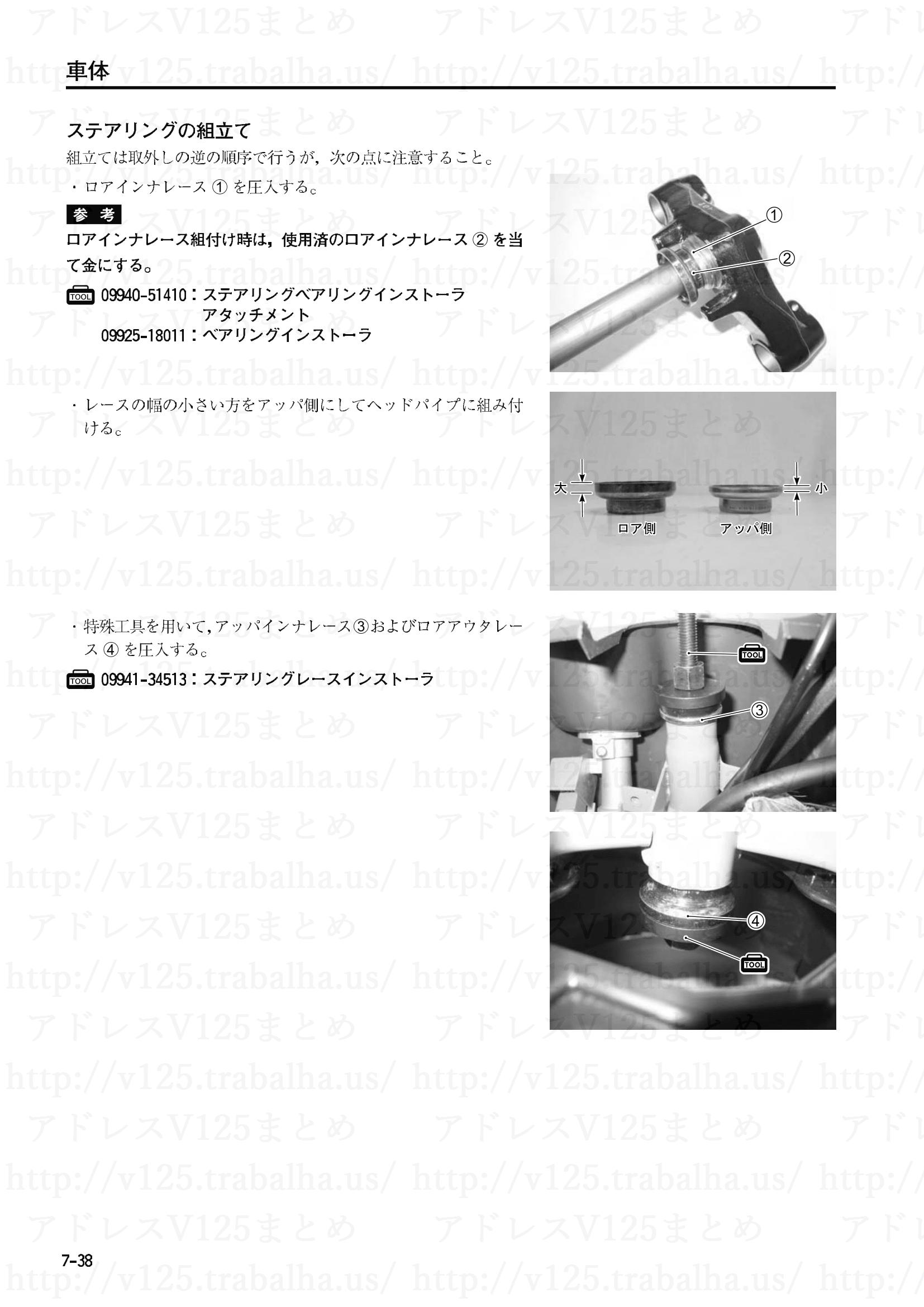 7-38【車体】ステアリングの組立て