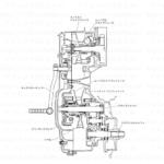 9-17【整備情報】クラッチ/トランスミッション/Vベルト組立図