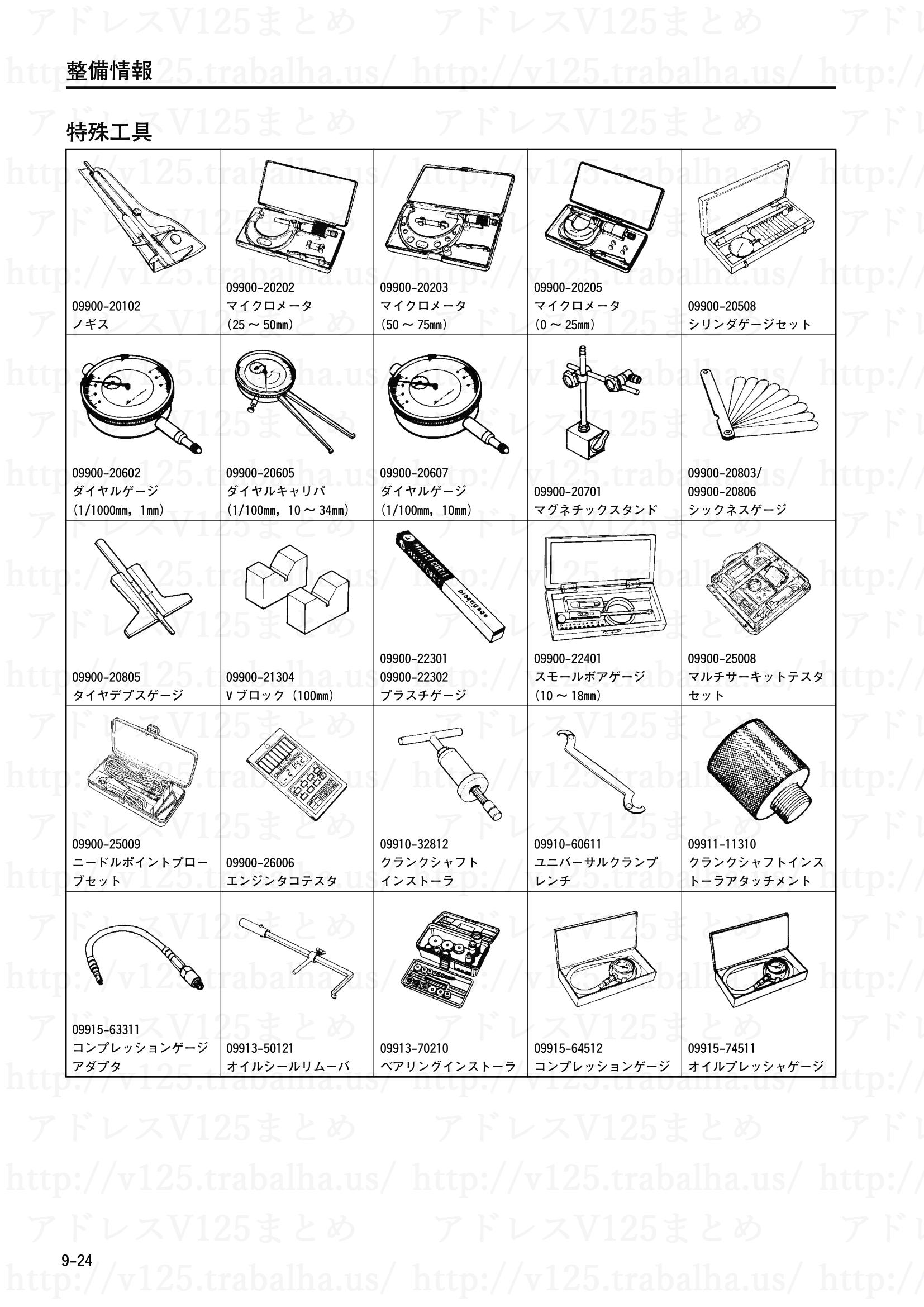 9-24【整備情報】特殊工具1