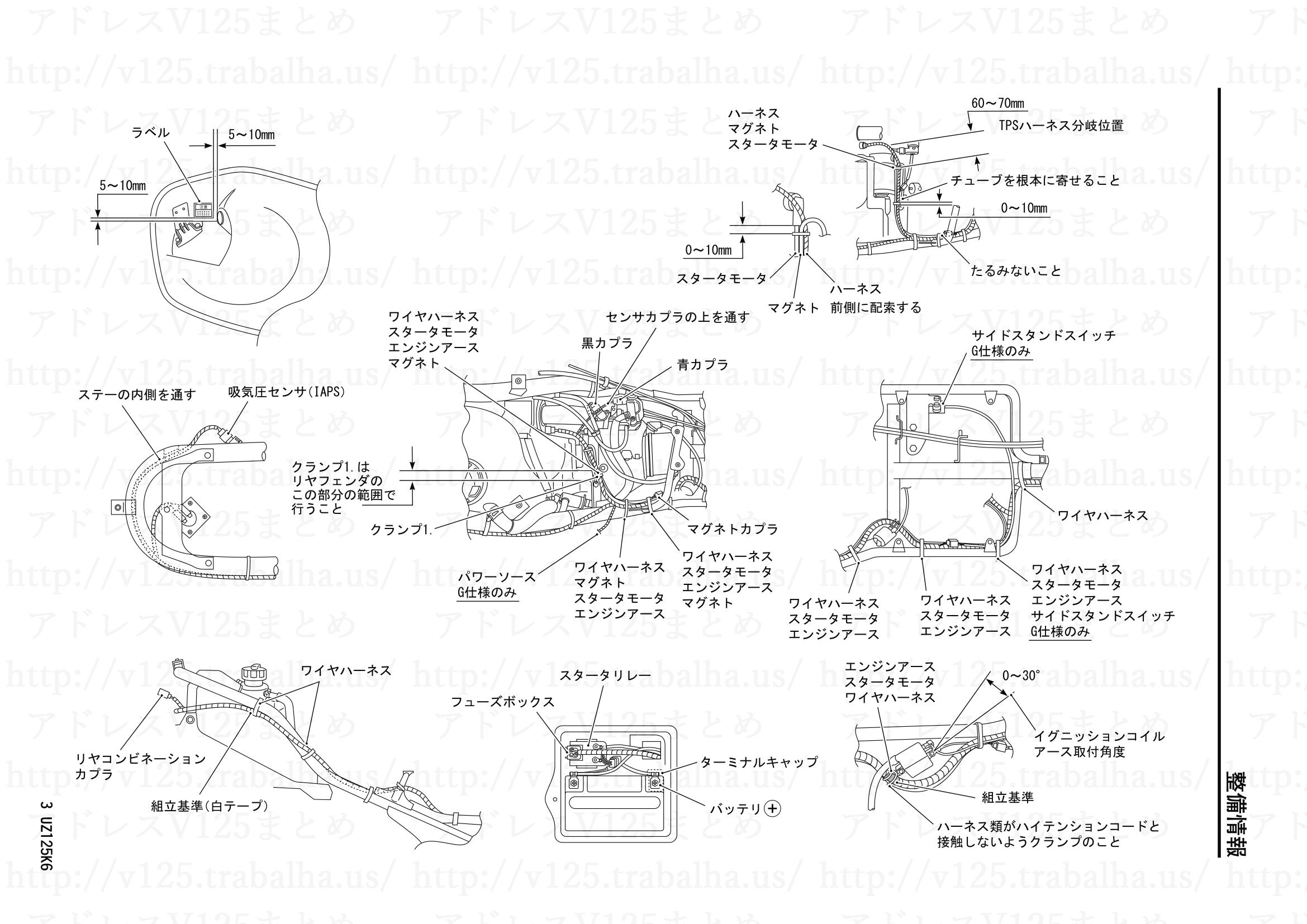 追補【UZ125/GK6】旧モデルとの主な相違点3