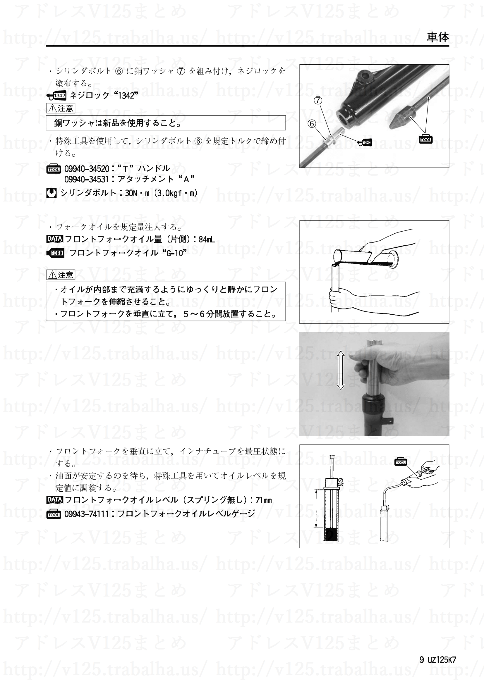 追補【UZ125K7/UZ125GK7】旧モデルとの主な相違点9