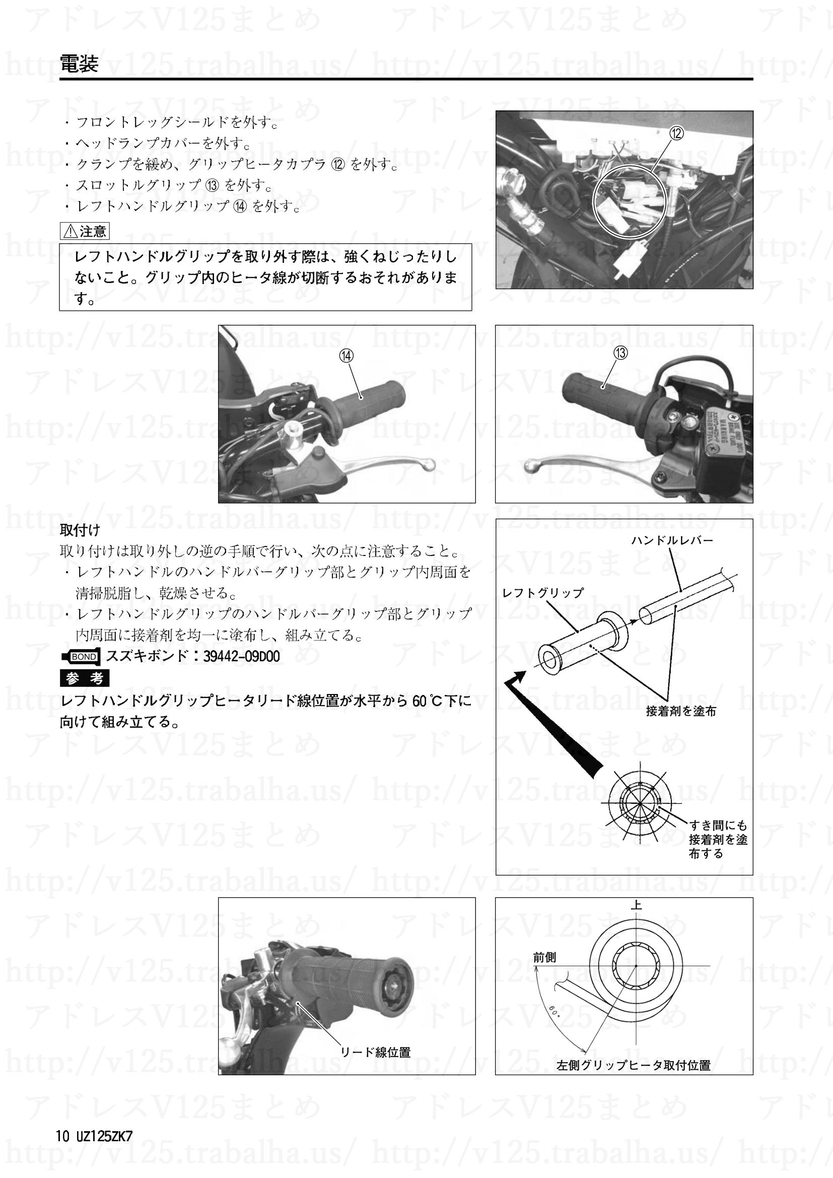 追補【UZ125ZK7】旧モデルとの主な相違点10